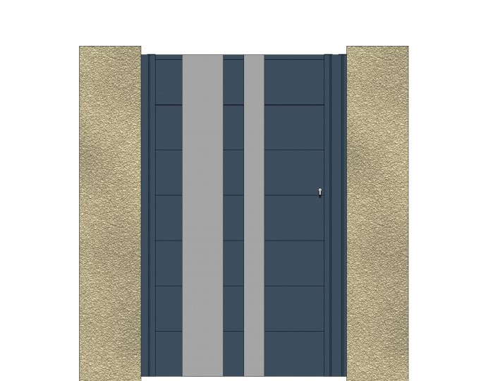 Portillon en Aluminium Lame 220 DECO 1