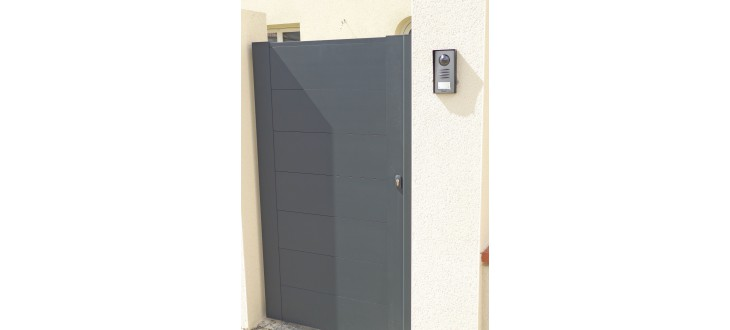 Portillon lame large horizontale 220 flat - Portillon sur mesure ...