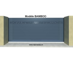 Portail Coulissant Design Lame 220 Bamboo