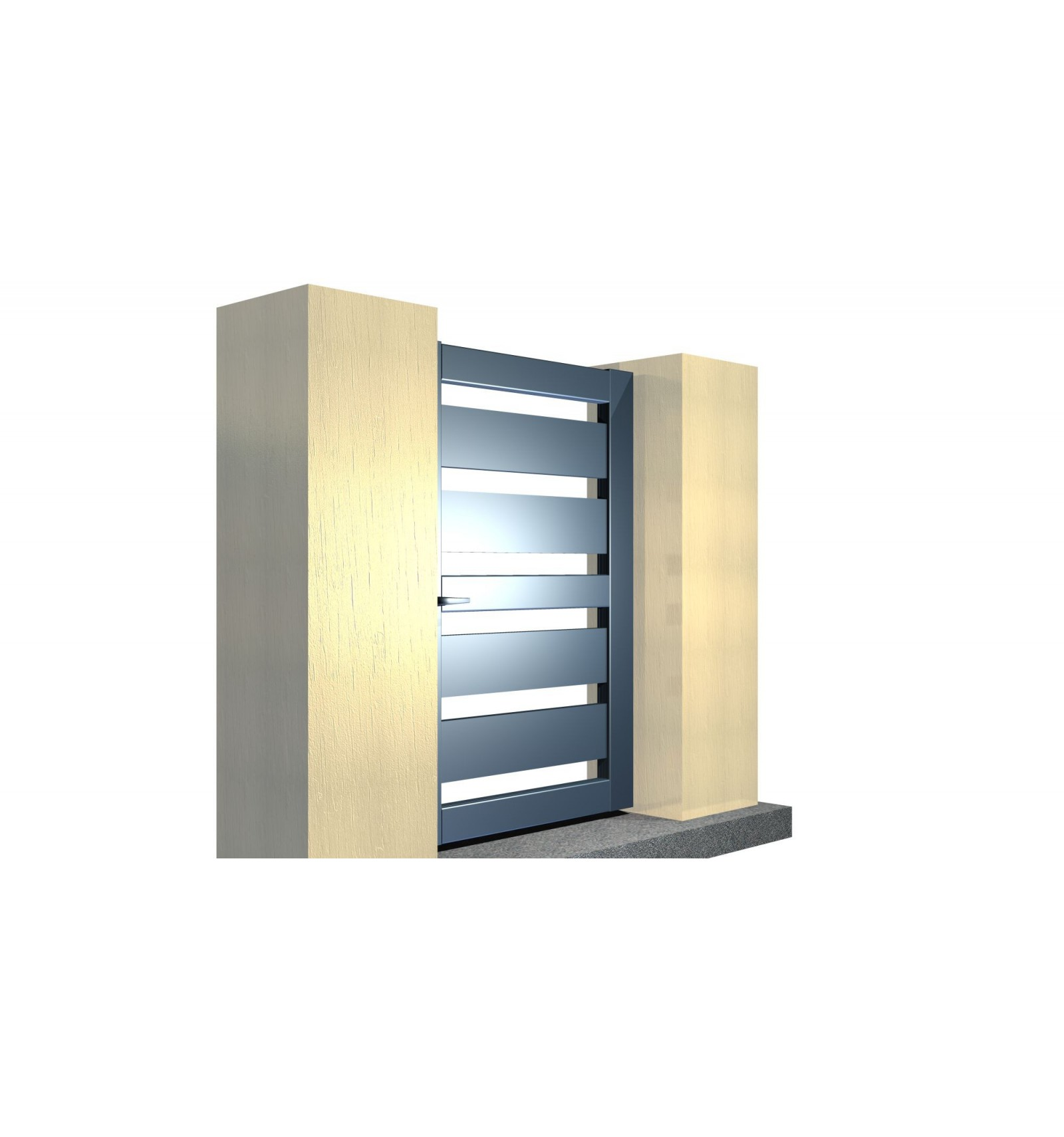 Portillon sur mesure en aluminium for Portillon en alu