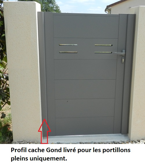 Finition Portillon Aluminium