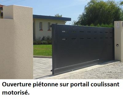 portillon aluminium sur mesure le portailalu. Black Bedroom Furniture Sets. Home Design Ideas